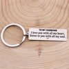 TINY KC1152 - To My Husband - I love you with all my heart-  Keychain