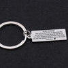 TINY KC1003 - To My Husband you are in my life I Love You keychain