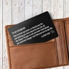 TINY CA5003 - ENGRAVED WALLET CARD - TO MY HUSBAND
