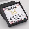 TINY NL3027 - TO MY MOM - I can't imagine my life without you - INFINITY HEART NECKLACE