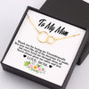 TINY NL3018 - TO MY MOM  - Thank you for loving me Unconditionally - LINKED RINGS NECKLACE