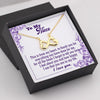 TINY NL3088 - TO MY NIECE - I feel about you and how happy I am that you are in my life - INFINITY HEART NECKLACE
