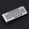 TINY MC7003 - To My Sweetheart - To thank you for everything you have done for me - Money Clip