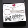 TINY NL3145 - TO MY WIFE -  Don't look for a pretty face, it will turn old one day - Heart Necklace & Keychain Gift Set