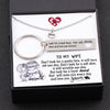 TINY NL3132 - TO MY WIFE - Don't look for a pretty face, it will turn old one day - Heart Necklace & Keychain Gift Set