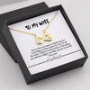 TINY NL3004 - TO MY WIFE - INFINITY HEART NECKLACE