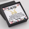 TINY NL3026 - TO MY WIFE - This is from my heart - INFINITY HEART NECKLACE