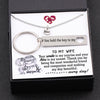 TINY NL3138 - TO MY WIFE - Your smile is my sunrise and your kiss is my sunset - Heart Necklace & Keychain Gift Set