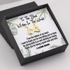 TINY NL3034 - To The Best Mother In The World  - INFINITY HEART NECKLACE