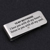 TINY MC7012 - To My Boyfriend - I love you with all my heart - Money Clip
