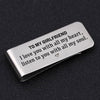 TINY MC7013 - To My Girlfriend - I love you with all my heart - Money Clip
