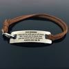TINY BL9059 - To My Grandson - you are never out of my heart - Bracelet