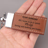 TINY KC1192 - To My Husband - All I want to do is spend my life - Keychain