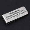 TINY MC7010 - To My Husband - I love you with all my heart - Money Clip