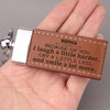 TINY KC1205 - To My Wife - Because of you I laugh a little harder - Keychain