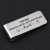 TINY MC7015 - To My Wife - whatever you do, do it with all your heart - Money Clip