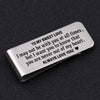 TINY MC7007 - To My Sweet Love - I may not be with you at all times - Money Clip