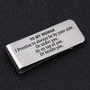 TINY MC7025 - To My Woman - I Promise to always be by your side - Money Clip
