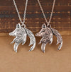 TINY NL3203 - To My Wife - You are, not only just the queen of this family - Couple Wolf Pendant Necklaces