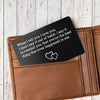 TINY CA5004 - ENGRAVED WALLET CARD - WHEN I TELL YOU I LOVE YOU