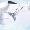 TINY NL3168 - To My Wife - I can't wait until you are here - Fish Tail Necklace