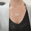 TINY NL3106 - TO MY SISTER - I miss you so much and will always do forever - INFINITY HEART NECKLACE