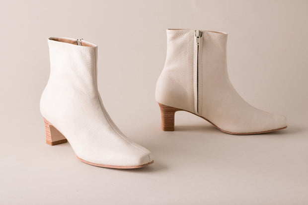 Huma Blanco Bolena Sock Boot in Bone Leather