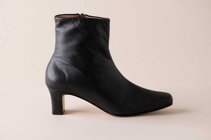 Huma Blanco Bolena Sock Boot in Black Leather