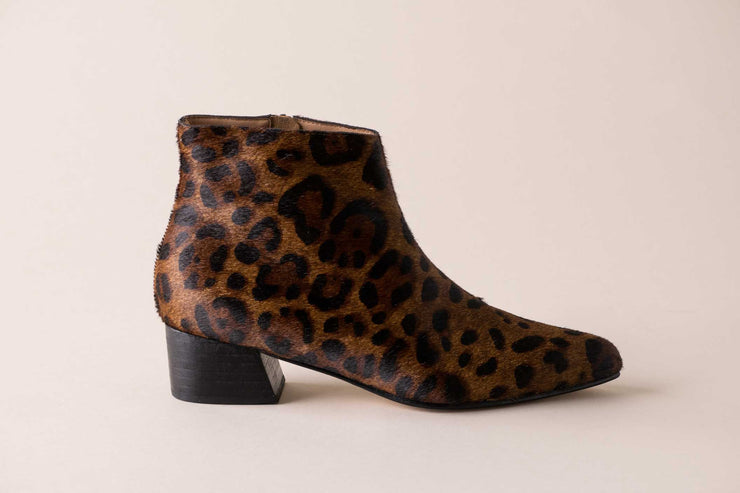 Huma Blanco Ortencia Boot in Dark Leopard Calf Hair