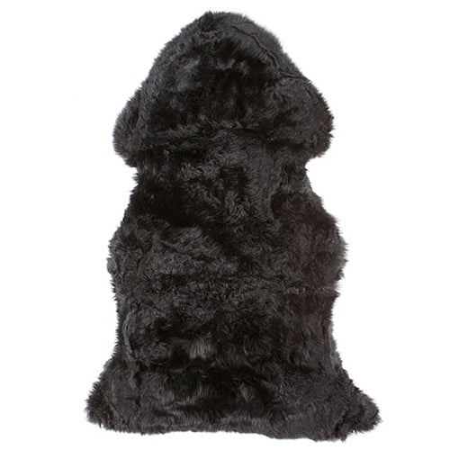 black sheepskin pelt