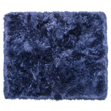 Load image into Gallery viewer, navy blue shag rug