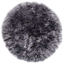 Load image into Gallery viewer, light gray round rug