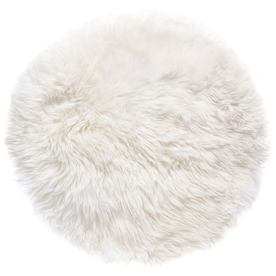 fluffy white fur rug