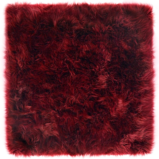 rectangle sheepskin rug