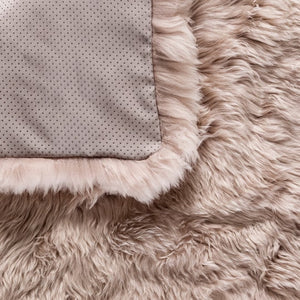 light brown fur rug