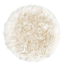 Load image into Gallery viewer, round sheepskin seat pad