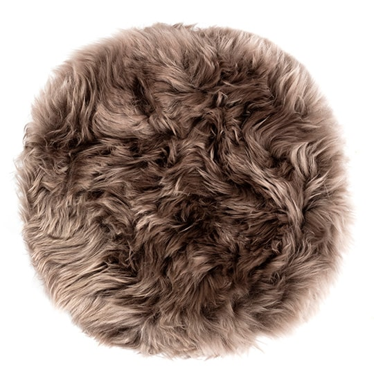 round sheepskin chair pad