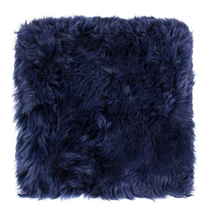 square sheepskin seat pad