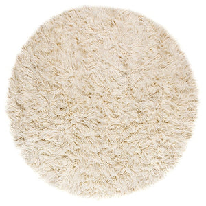 large white shag rug