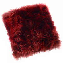 Load image into Gallery viewer, pink sheepskin cushion
