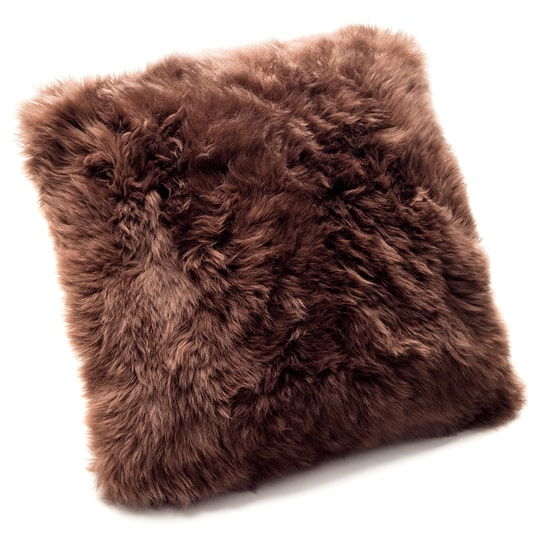 real sheepskin pillow