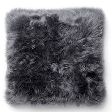 Load image into Gallery viewer, grey sheepskin cushion