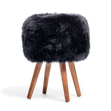 Load image into Gallery viewer, sheepskin stool