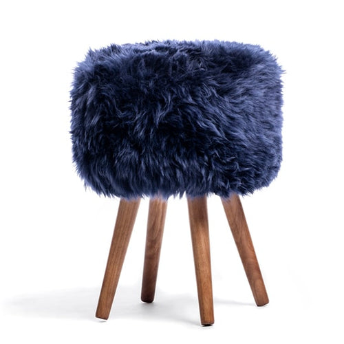 sheepskin covered stools