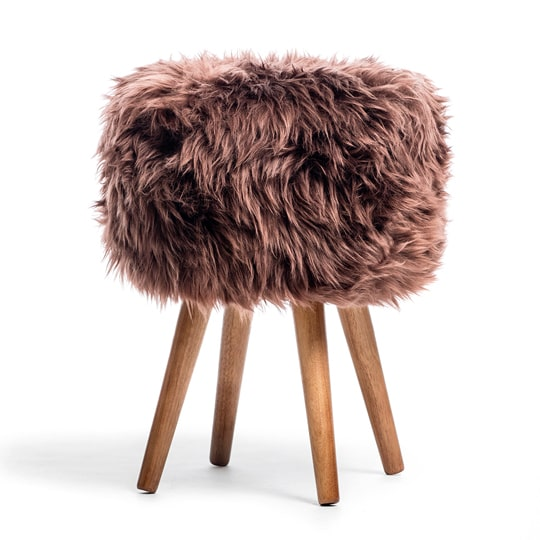 sheepskin dressing table stool