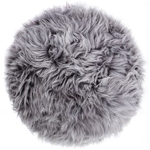 Load image into Gallery viewer, grey sheepskin stool