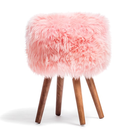 sheepskin bar stool