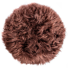 Load image into Gallery viewer, New Zealand Sheepskin Stool Brown