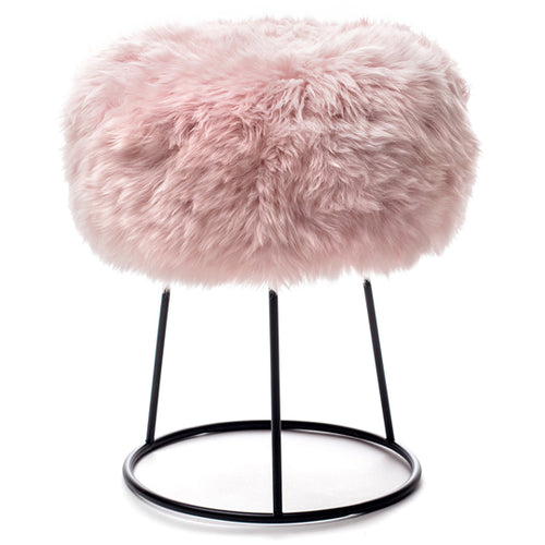 New Zealand Sheepskin Stool Heavenly Pink
