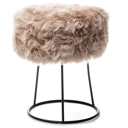 New Zealand Sheepskin Stool Light Brown